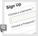 Custom Sign Up &amp; Login Pages